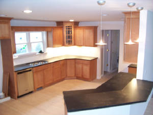 Granite counter top maple cabinets. Plymouth Michigan