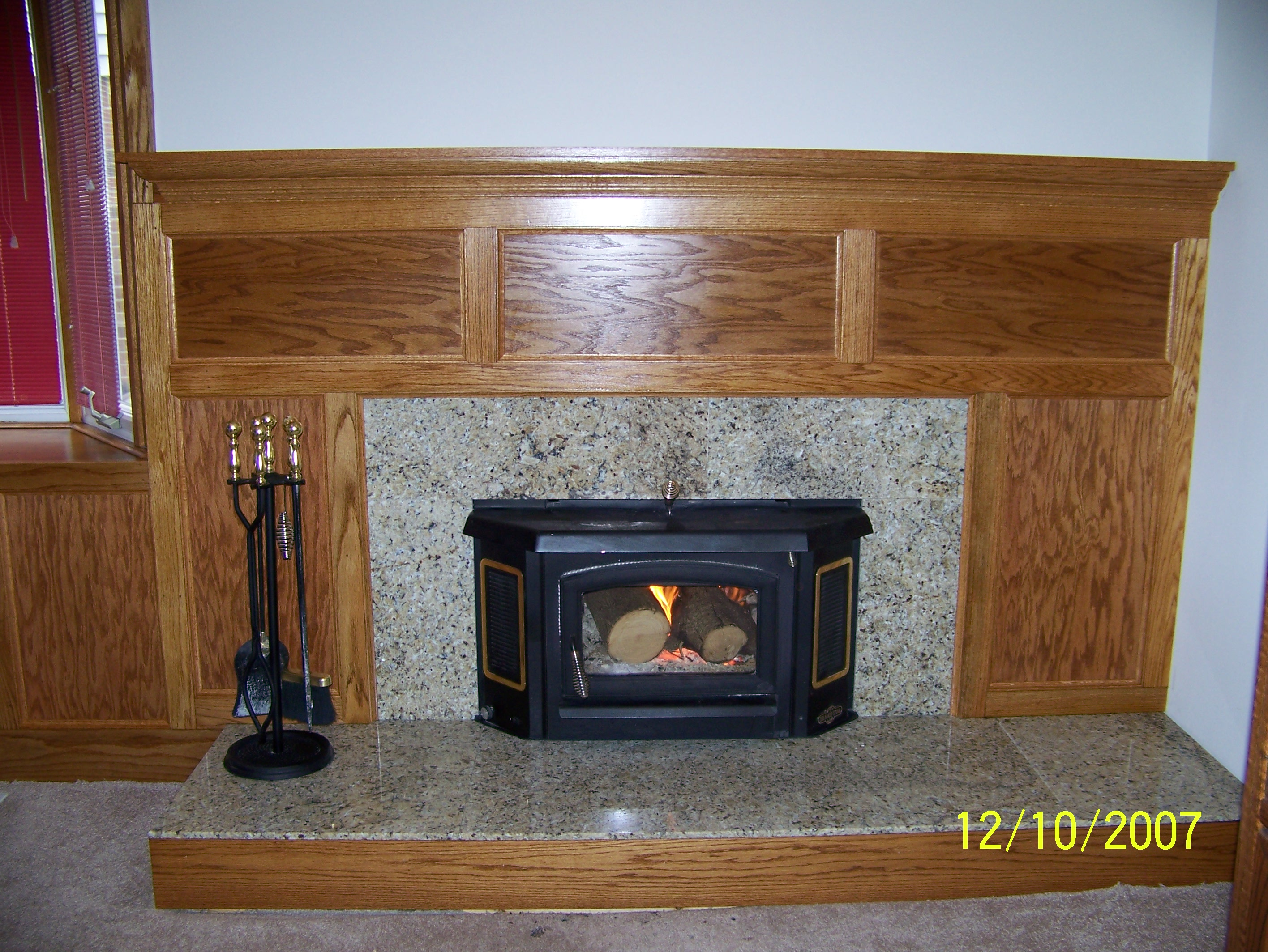 Salem Township Fireplace Renovation. Kitchen Renovation. Bathroom renovation