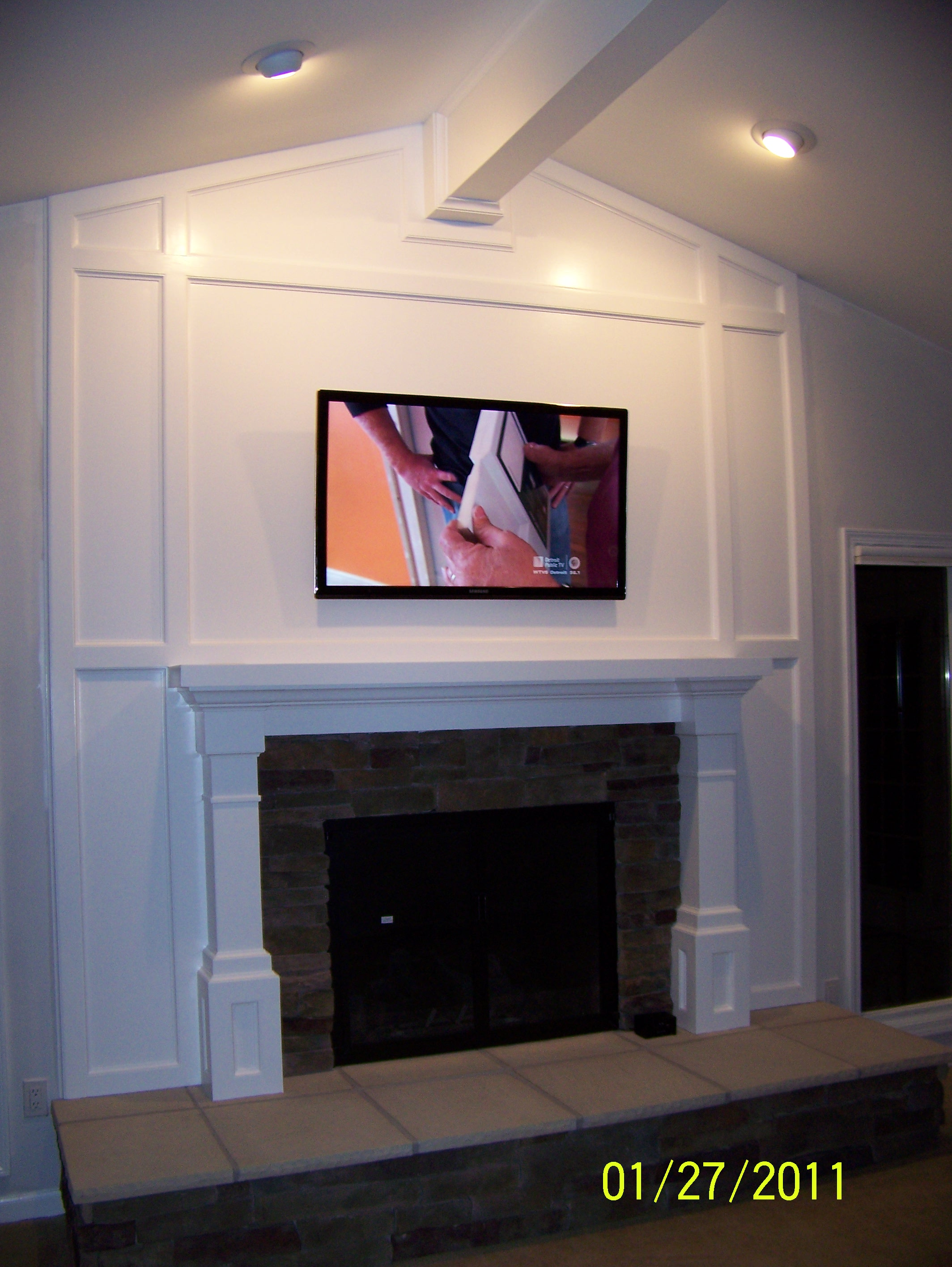 Northville Fireplace remodel